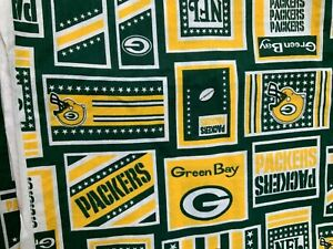 Green Bay Packers Cotton Fabric Vintage 1 4 Yard 9 X 56 Masks Fast Free Ship Ebay
