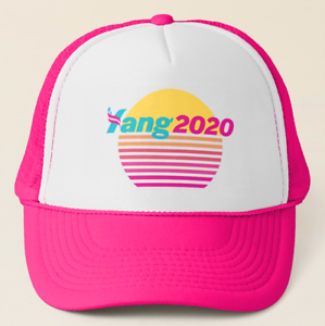 Andrew Yang 2020 Pink Vaporwave Trucker Hat#YangGang
