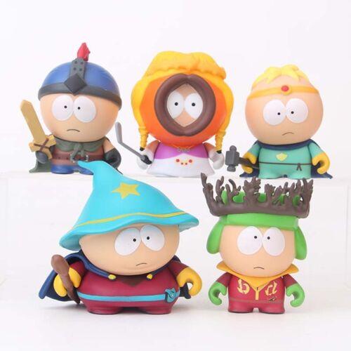 5PCS Cute South Park Stan Kyle Eric Kenny Leopard Action Figures Kids Toys Gift