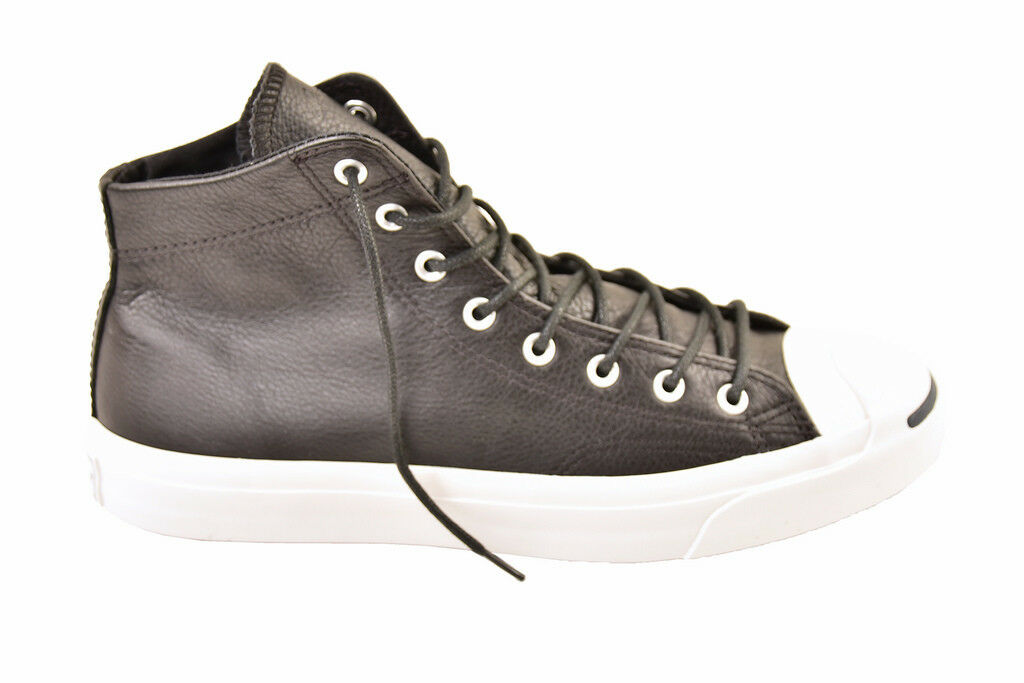 Converse Unisex  Jack Purcell High-top Black Trainers  Size UK 8   BCF811