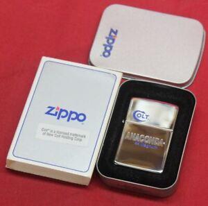 Colt Firearms Factory Anaconda ZIPPO lighter Mint in Case