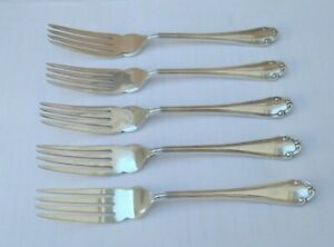 VINTAGE-CUTLERY-5-FORKS-MAPPIN-amp-WEBB-SILVER-PLATED-SIZE-6-8-034-20-OFF