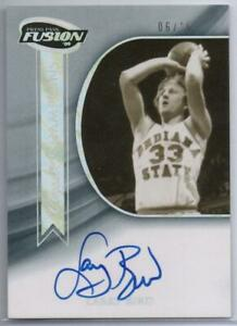 NBA 2009 Larry Bird PRESS PASS Fusion Classic Champions Auto Onyx 6/10