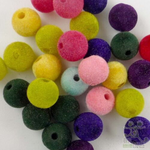 10pcs Mixed Acrylic Coating Round Beads 12MM Craft//Kids DIY Jewelry Marking