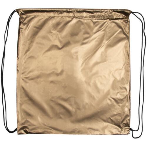 Sportbeutel Turnbeutel aus Polyester Farbe Gymbag metallic gold