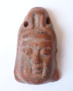 Amulette Pendentif Tête En Terre Cuite Bouddha Prix ModéRé
