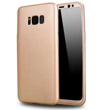 360° Shockproof Matte Rubber PC Full Cover Case for Samsung Galaxy S8 Plus Skin