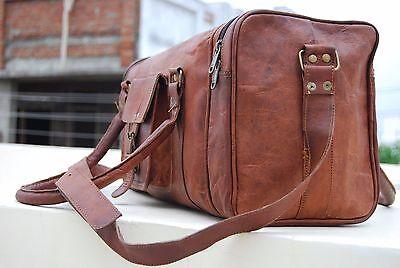 Handgefertigte Vintage Leder Duffle Reisetasche Weekend Bag für Männer und Fraue