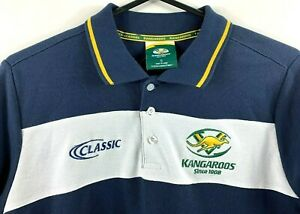 Australian Rugby League ARL Kangaroos Men's Polo Shirt Size Small Rugby League