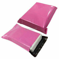 100 Pink Coloured Postal Mailing Bags 10 X 14 Strong Plastic Parcel Poly Post