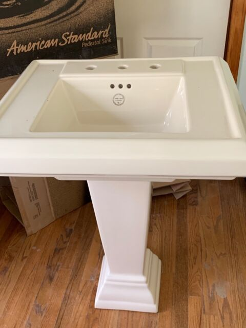 American Standard 731150 400 021 Pedestal Sink Bone For Sale Online Ebay