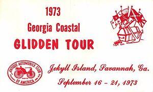 Jekyll-Isola-Savannah-Georgia-Salchi-Antico-Automobile-Club-Cartolina-1973