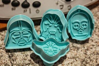 UK Set x 4 Star Wars Cookie Cutters Plungers Baking Craft fondant sugarcraft