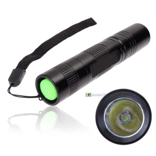 CREE Q5 2000 Lumens 18650 LED Mini Flashlight Torch Lamp Light 3 Modes Black SS