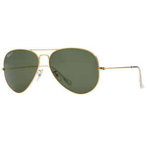 eacf06bf7c6 Ray-Ban Aviator Polarized Large RB3025 001 58 62mm Green Lens Gold ...