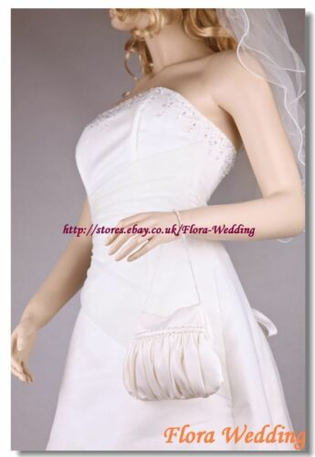 Satin Bridal Bag//Flower Girl Bridesmaid Handbag//Communion Pouch//Prom Purse,beads