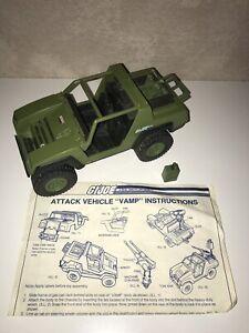 GI-Joe-1982-VAMP-JEEP-INCOMPLETE-Missing-Steering-Wheel-Gun-amp-1-Gas-Tank