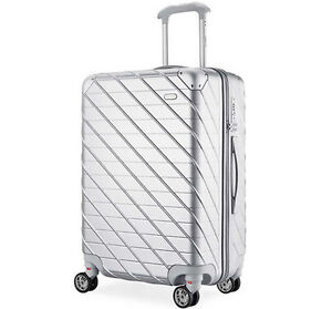24-034-Silver-TSA-Coded-Lock-Universal-Wheel-ABS-PC-Business-Travel-Suitcase-Luggage