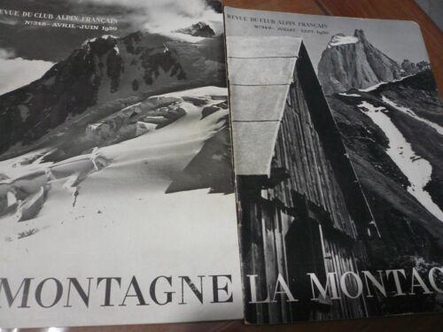 2 Revue La Montagne Club Alpin 1950,  techniques sauvetages, Saussois, Evettes