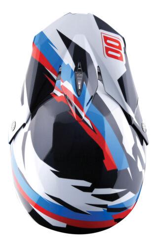 FREE GOGGLES NEW SHOT SCORE MOTOCROSS MX ENDURO HELMET BLACK BLUE RED GLOSS