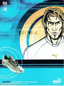PUBLICITE ADVERTISING 125  2002  PUMA  chaussures foot shudoh  PIRES