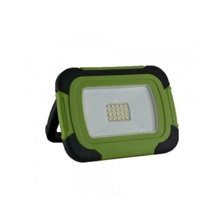 10W-PLASTIC RECHARGEABLE FLOODLIGHT-LED BY SAMSUNG-IP44-6400 - 012886