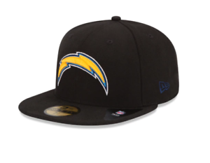 the latest 23735 3fe08 Image is loading New-Era-Cap-59FIFTY-Los-Angeles-Chargers-Black-