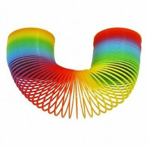 12 x Regenbogenspirale Treppenläufer Springfeder 8 x 6 cm Mitgebsel