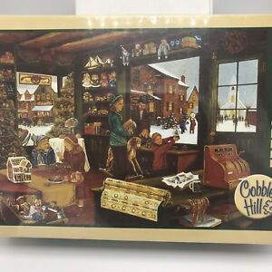 1000-Piece-Jigsaw-Puzzle-Christmas-Last-Shopping-Day-Cobble-Hill-Sealed
