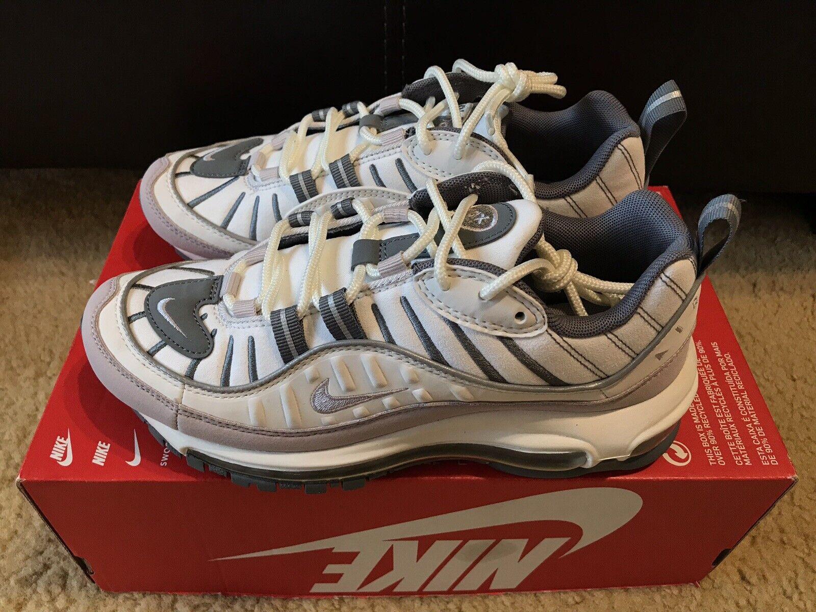 Nike Air Max 98 Women S Size 6 Summit White Violet Ash Ah6799 111