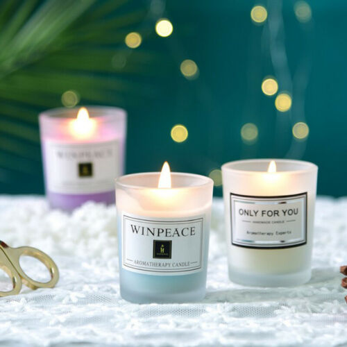 Nordic Scented Candles Lemon Lavender Rose Wedding Wax Cand nzUS