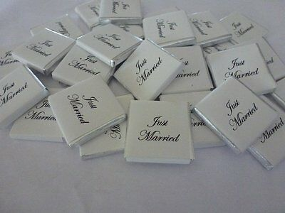 JUST MARRIED NEAPOLITAN RETRO CANDY WEDDING FAVOUR X 25