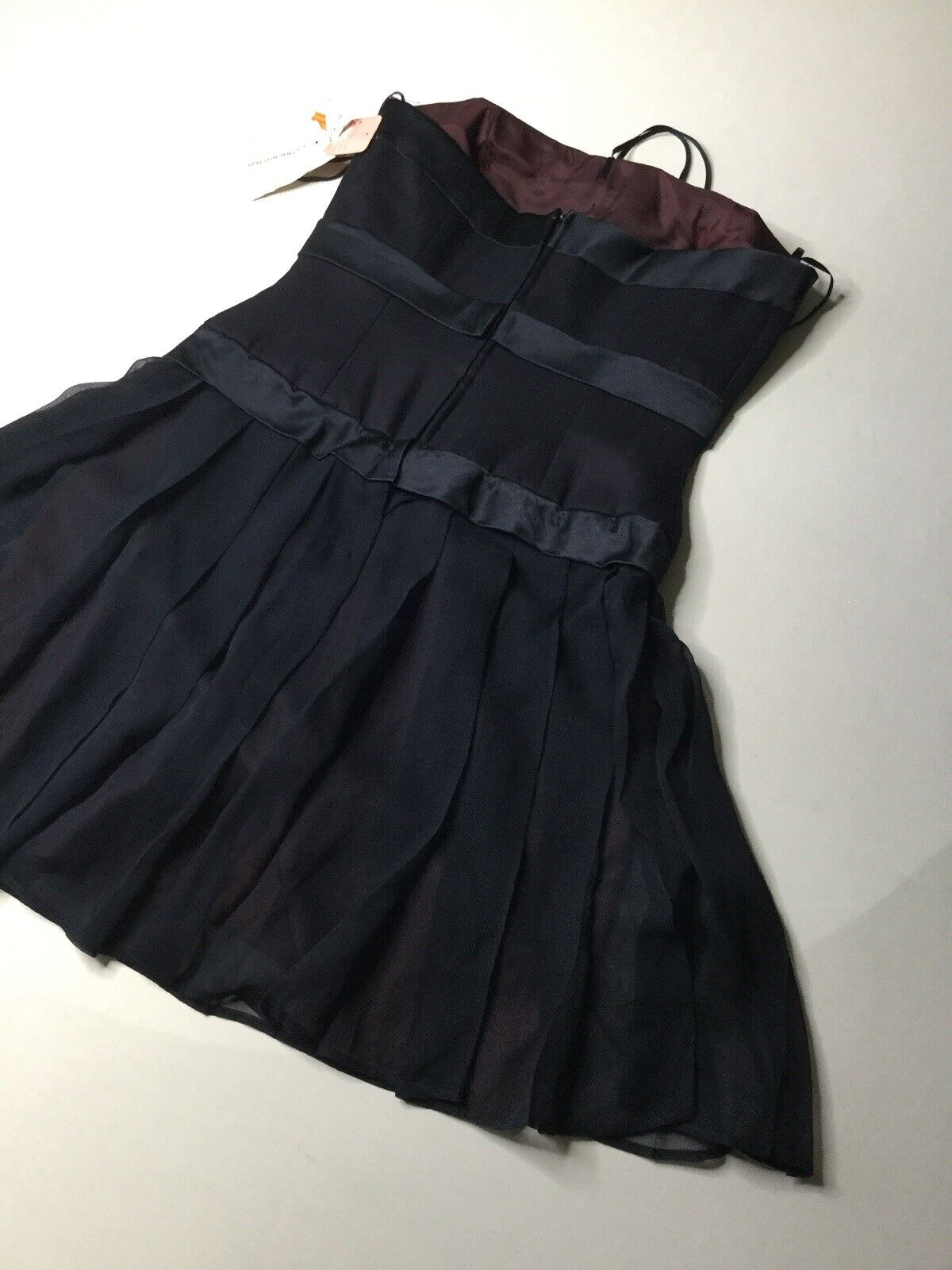 Kathryn Conover Vintage 100% Seda  Vestido Sin Tirantes Talla 8 Azul Marino Nuevo Con Etiquetas  autentico en linea