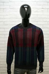 Maglione-Uomo-STEFANEL-Taglia-L-Cardigan-Pullover-Vintage-Maglia-Sweater-Lana