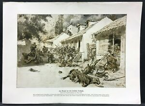 Serbia-Strasen-kampf-to-Commune-Soldiers-Military-WK1-Art-Print-W-4132