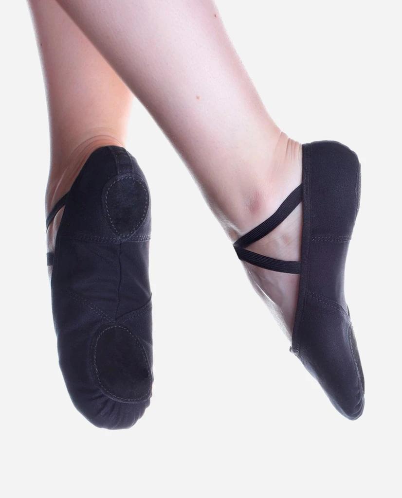 Black canvas So Danca BAE13 split sole ballet shoes - all sizes