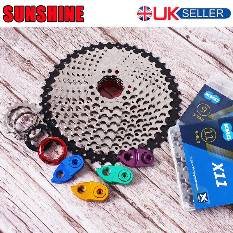 MTB Bike 11-40 42 46 50T Cassette KMC Chain 6 7 8 9 10 11Speed 116 118 Sprocket