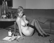 1964 Very large breasts Blonde in Fishnets pinup #6  5 x 7 Photograph