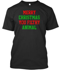 3c1ff0518 Merry Christmas You Filthy Animal Funny Red Green - Premium Tee T ...