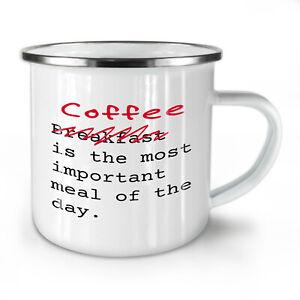 Coffee Important NEW Enamel Tea Mug 10 oz | Wellcoda