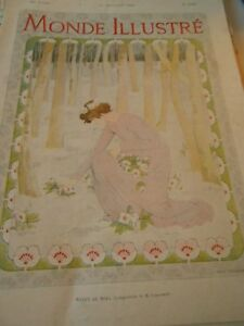 Travailleur Gravure 1902 - Roses De Noel Composition De Caruchet Vente Chaude 50-70% De RéDuction