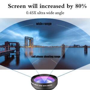 Phone Lens Set 0.45x Super Wide Angle /& 12.5x Super Macro Lens HD Camera Lentes
