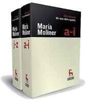 Maria Moliner Diccionario Del Uso Del Espanol Two Volumes Spanish Edition