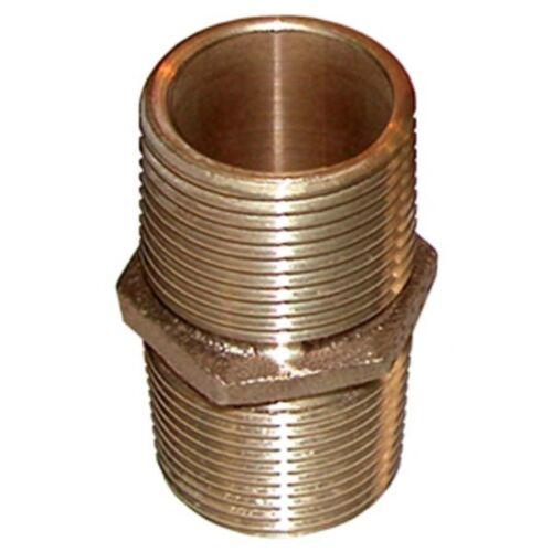 Groco Bronze Pipe Nipple 1 1//2 in