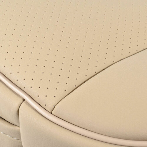 PU Leather Deluxe Car Driver Seat Cover Pad Protector Cushion Universal Beige BE