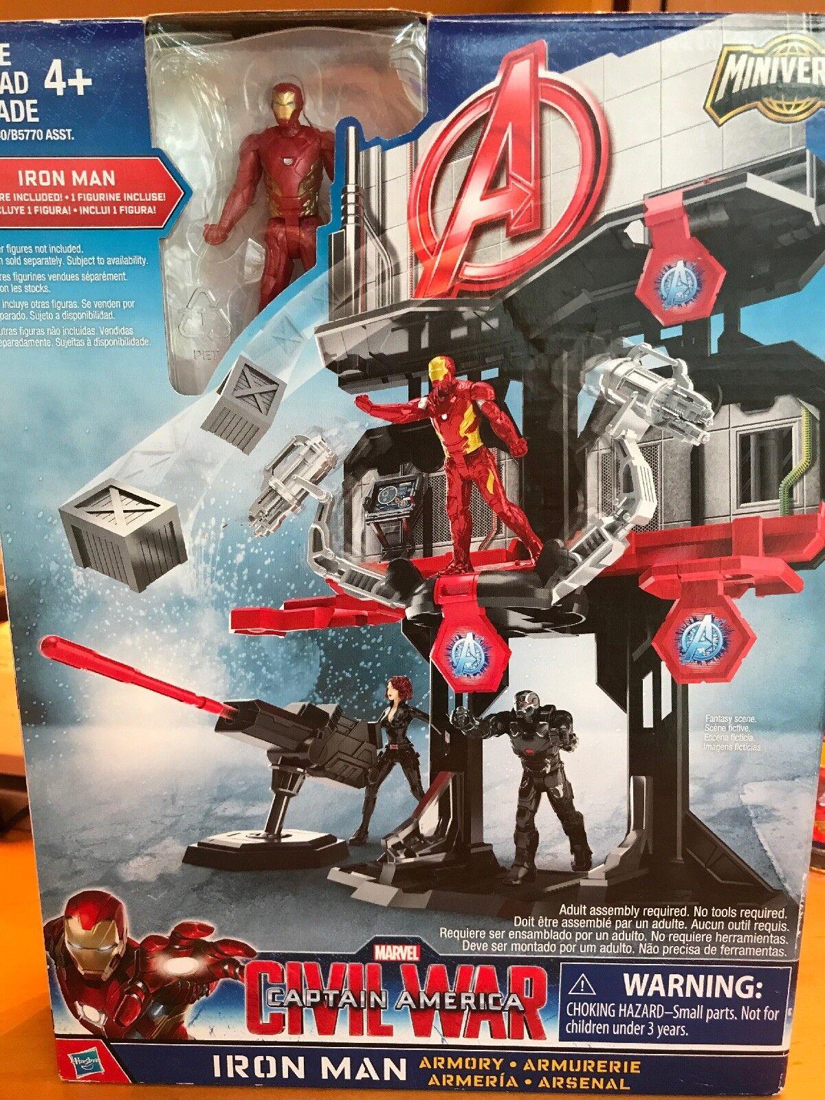 Marvel Iron Man Armory guerre civile Captain America miniverse Playset