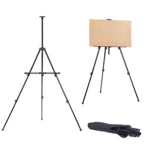 Artist-Folding-Painting-Easel-Tripod-Display-Stand-Iron-Metal-Black-Craft-Bag