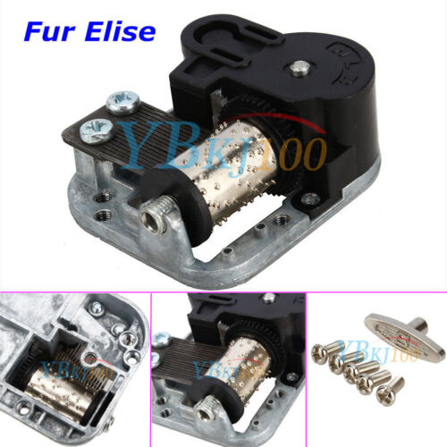 Wind Up Musical Movements Part with screws For DIY Music Box Fur Elise//Edelweiss