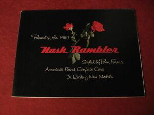 1954 Nash Rambler sales Brochure booklet Catalog Book Old Original