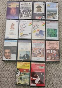 14 x Classical Music Cassette tapes - collection lot EMI DG CBS DECCA PHILIPS